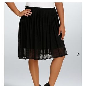 Dotted Mesh Skater Skirt new no tags